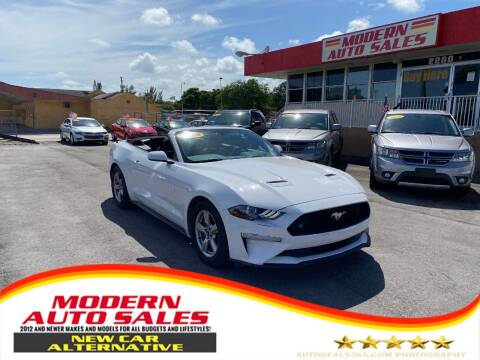 2019 Ford Mustang for sale at Modern Auto Sales in Hollywood FL