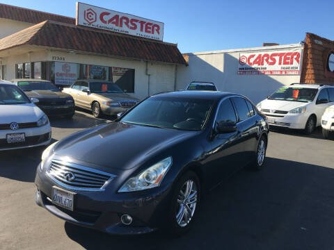 2011 Infiniti G25 Sedan for sale at CARSTER in Huntington Beach CA