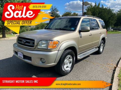 2002 Toyota Sequoia for sale at STRAIGHT MOTOR SALES INC in Paterson NJ