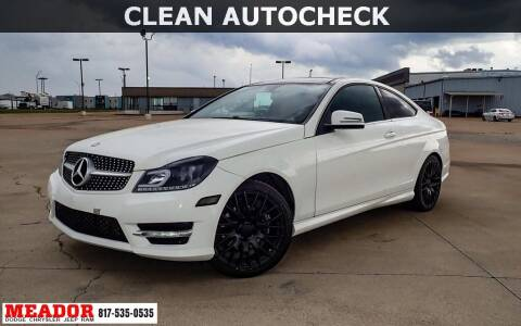 2015 Mercedes-Benz C-Class for sale at Meador Dodge Chrysler Jeep RAM in Fort Worth TX