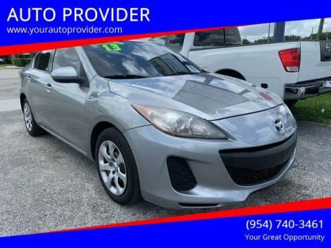 2013 Mazda MAZDA3 for sale at AUTO PROVIDER in Fort Lauderdale FL