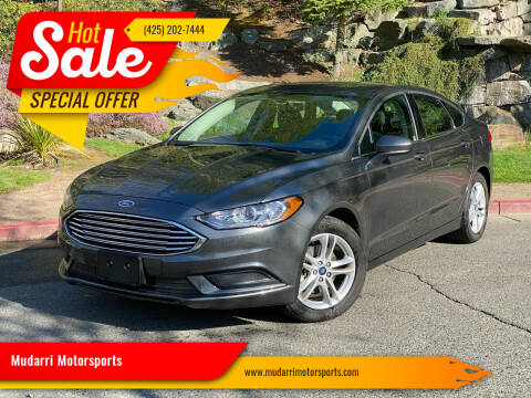 2018 Ford Fusion for sale at Mudarri Motorsports in Kirkland WA