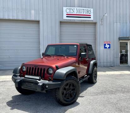 2008 Jeep Wrangler for sale at CTN MOTORS in Houston TX