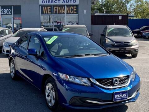 2013 Honda Civic for sale at Stanley Automotive Finance Enterprise - STANLEY DIRECT AUTO in Mesquite TX