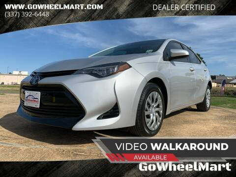 2018 Toyota Corolla for sale at GOWHEELMART in Leesville LA