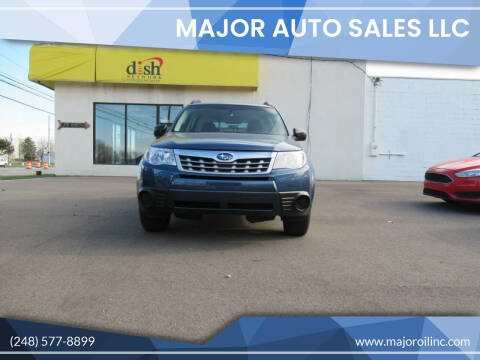 2011 Subaru Forester for sale at Major Auto Sales LLC in Madison Heights MI