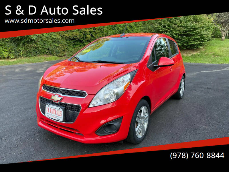 2013 Chevrolet Spark for sale at S & D Auto Sales in Maynard MA