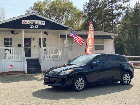 2012 Mazda MAZDA3 for sale at CVC AUTO SALES in Durham NC