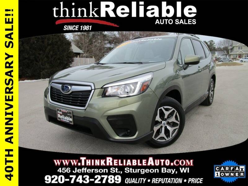 2020 Subaru Forester for sale at RELIABLE AUTOMOBILE SALES, INC in Sturgeon Bay WI
