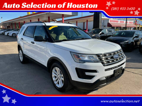 2016 Ford Explorer for sale at Auto Selection of Houston in Houston TX