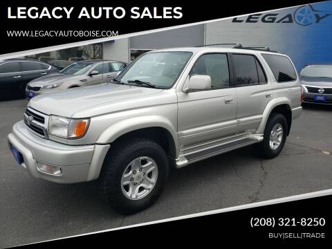 1999 Toyota 4Runner for sale at LEGACY AUTO SALES in Boise ID