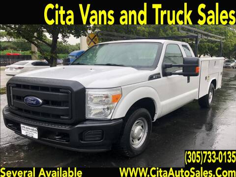 2015 FORD F250 SD SUPERCAB UTILITY TRUCK for sale at Cita Auto Sales in Medley FL