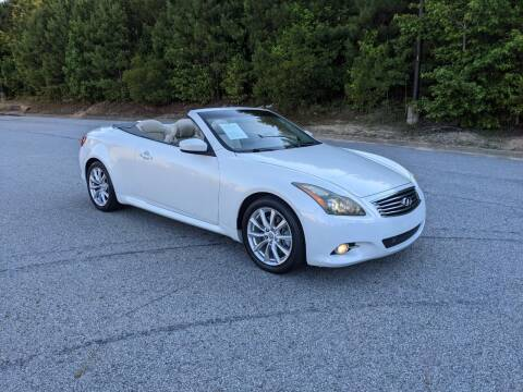 2012 Infiniti G37 Convertible for sale at United Luxury Motors in Stone Mountain GA