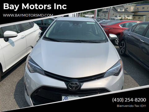 2018 Toyota Corolla for sale at Bay Motors Inc in Baltimore MD