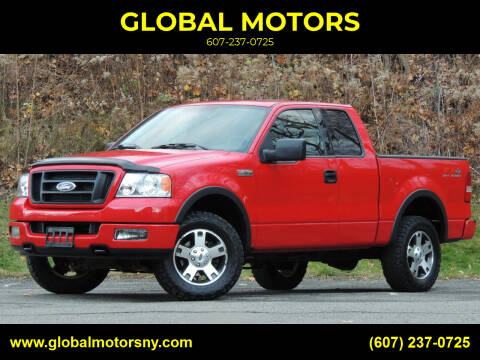 2004 Ford F-150 for sale at GLOBAL MOTORS in Binghamton NY