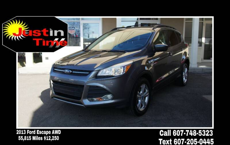 2013 Ford Escape for sale at Just In Time Auto in Endicott NY
