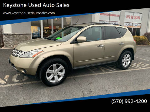 2007 Nissan Murano for sale at Keystone Used Auto Sales in Brodheadsville PA
