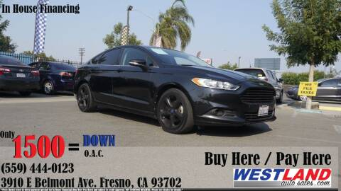2013 Ford Fusion for sale at Westland Auto Sales in Fresno CA