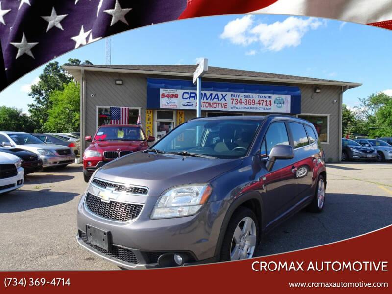 2012 Chevrolet orlando for sale at Cromax Automotive in Ann Arbor MI