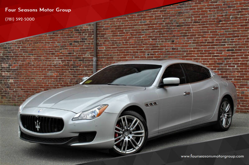 2014 Maserati Quattroporte for sale at Four Seasons Motor Group in Swampscott MA