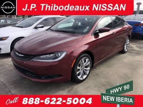 2015 Chrysler 200 for sale at J P Thibodeaux Used Cars in New Iberia LA