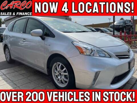 2012 Toyota Prius v for sale at CARCO SALES & FINANCE - CARCO OF POWAY in Poway CA