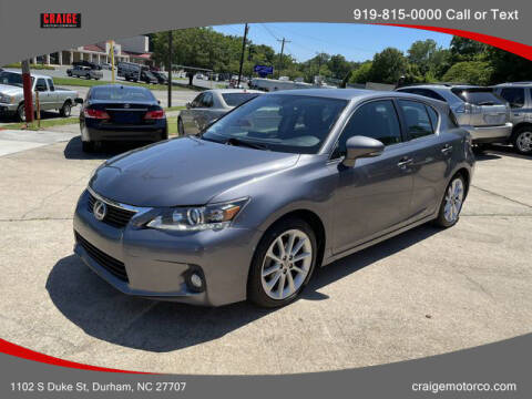 2013 Lexus CT 200h for sale at CRAIGE MOTOR CO in Durham NC