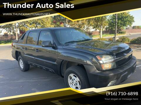 2004 Chevrolet Avalanche for sale at Thunder Auto Sales in Sacramento CA