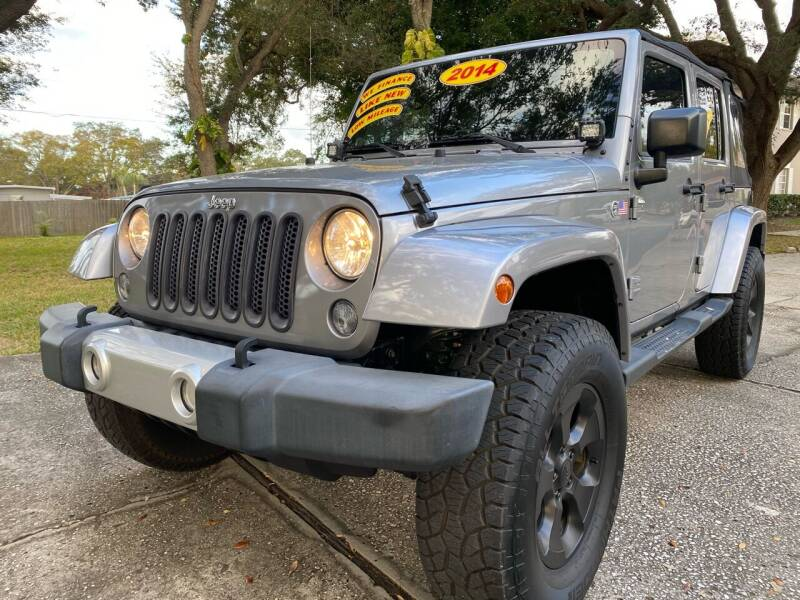 2014 Jeep Wrangler Unlimited for sale at RoMicco Cars and Trucks in Tampa FL