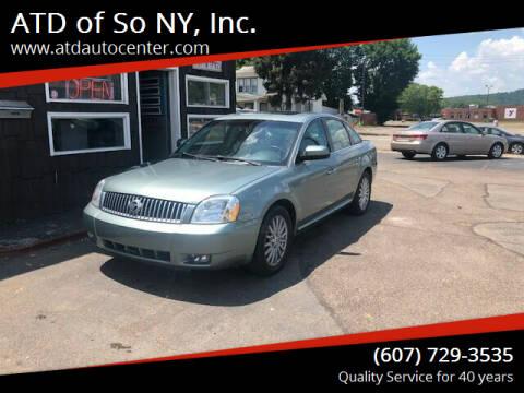 2006 Mercury Montego for sale at ATD of So NY, Inc. in Johnson City NY