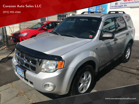 2008 Ford Escape for sale at Corazon Auto Sales LLC in Paterson NJ