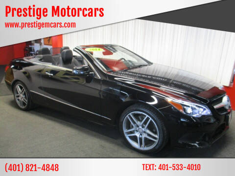 2014 Mercedes-Benz E-Class for sale at Prestige Motorcars in Warwick RI