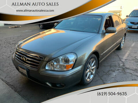 2005 Infiniti Q45 for sale at ALLMAN AUTO SALES in San Diego CA