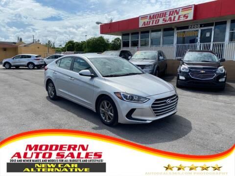2017 Hyundai Elantra for sale at Modern Auto Sales in Hollywood FL