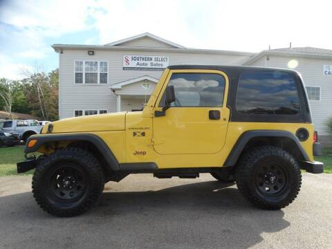 2002 Jeep Wrangler for sale at SOUTHERN SELECT AUTO SALES in Medina OH