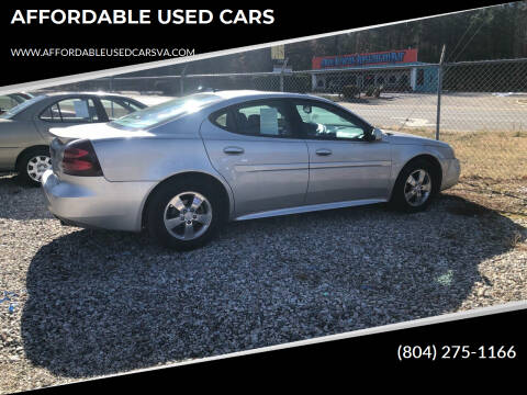 2007 Pontiac Grand Prix for sale at AFFORDABLE USED CARS in Richmond VA