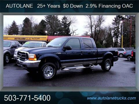 2001 Ford F-250 Super Duty for sale at Auto Lane in Portland OR