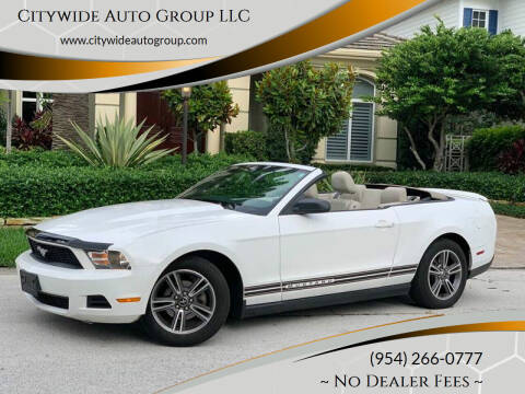 2010 Ford Mustang for sale at Citywide Auto Group LLC in Pompano Beach FL