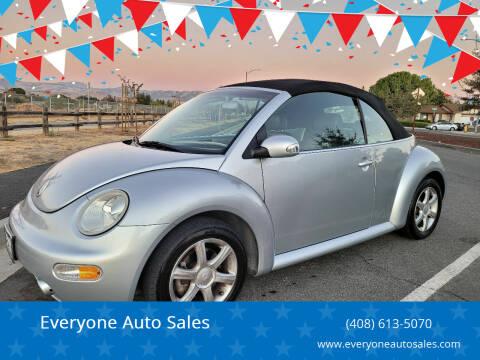 2004 Volkswagen New Beetle Convertible for sale at Everyone Auto Sales in Santa Clara CA