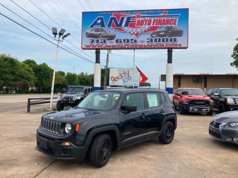 2017 Jeep Renegade for sale at ANF AUTO FINANCE in Houston TX