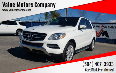 2015 Mercedes-Benz M-Class for sale at Value Motors Company in Marrero LA