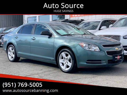 2009 Chevrolet Malibu for sale at Auto Source in Banning CA