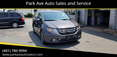2014 Honda Odyssey for sale at Park Ave Auto Sales and Service in Cranston RI