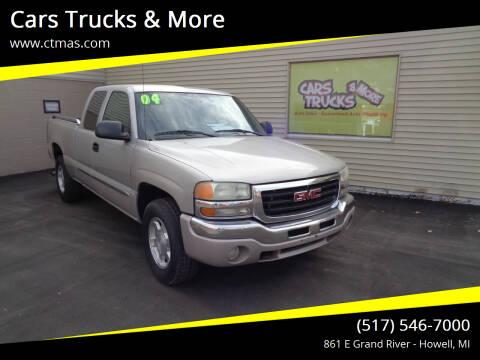 2004 GMC Sierra 1500 for sale at Cars Trucks & More in Howell MI