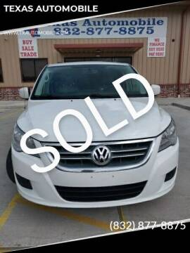2012 Volkswagen Routan for sale at TEXAS AUTOMOBILE in Houston TX