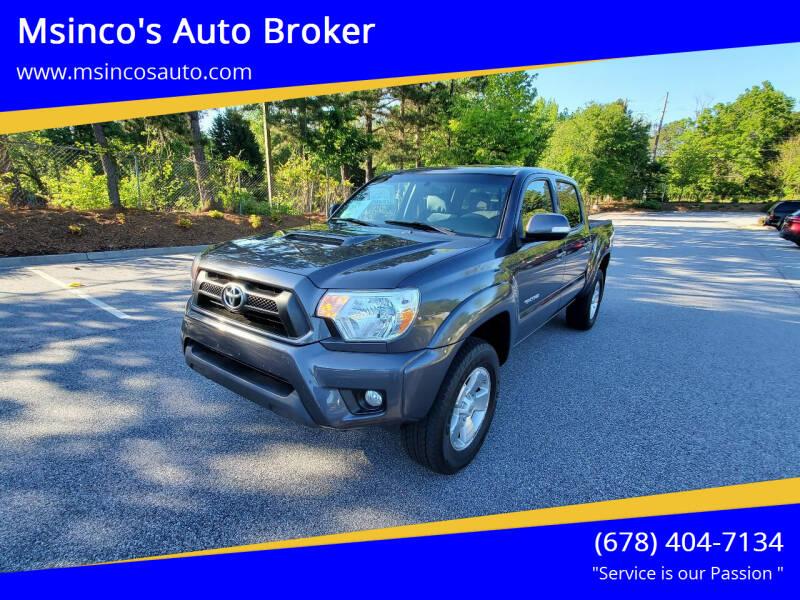 2012 Toyota Tacoma for sale at Msinco's Auto Broker in Snellville GA
