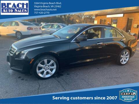 2013 Cadillac ATS for sale at Beach Auto Sales in Virginia Beach VA