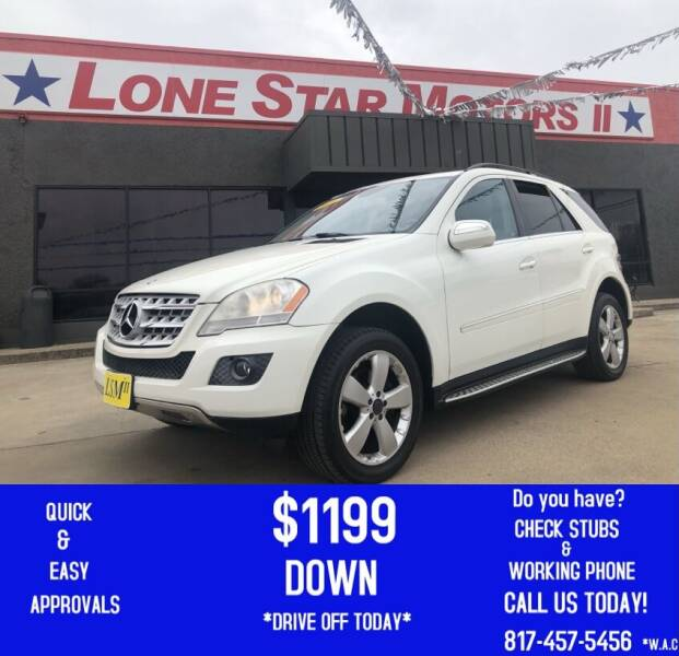 2010 Mercedes-Benz M-Class for sale at LONE STAR MOTORS II in Fort Worth TX