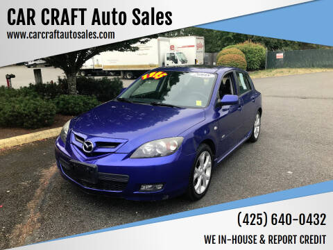 2008 Mazda MAZDA3 for sale at Car Craft Auto Sales Inc in Lynnwood WA