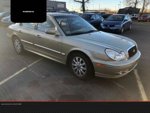 2003 Hyundai Sonata for sale at New England Motor Cars in Springfield MA
